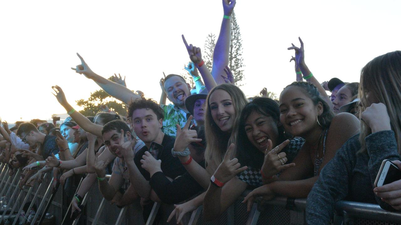 These music lovers pushed right to the front of the crowd to be at the base of the stage at River Sessions.