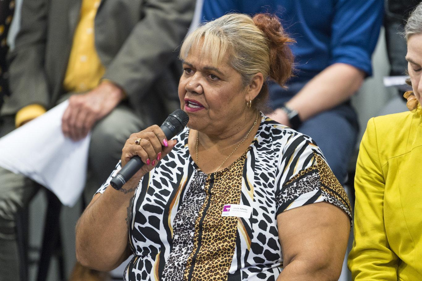 Lizzie Adams at a council forum.