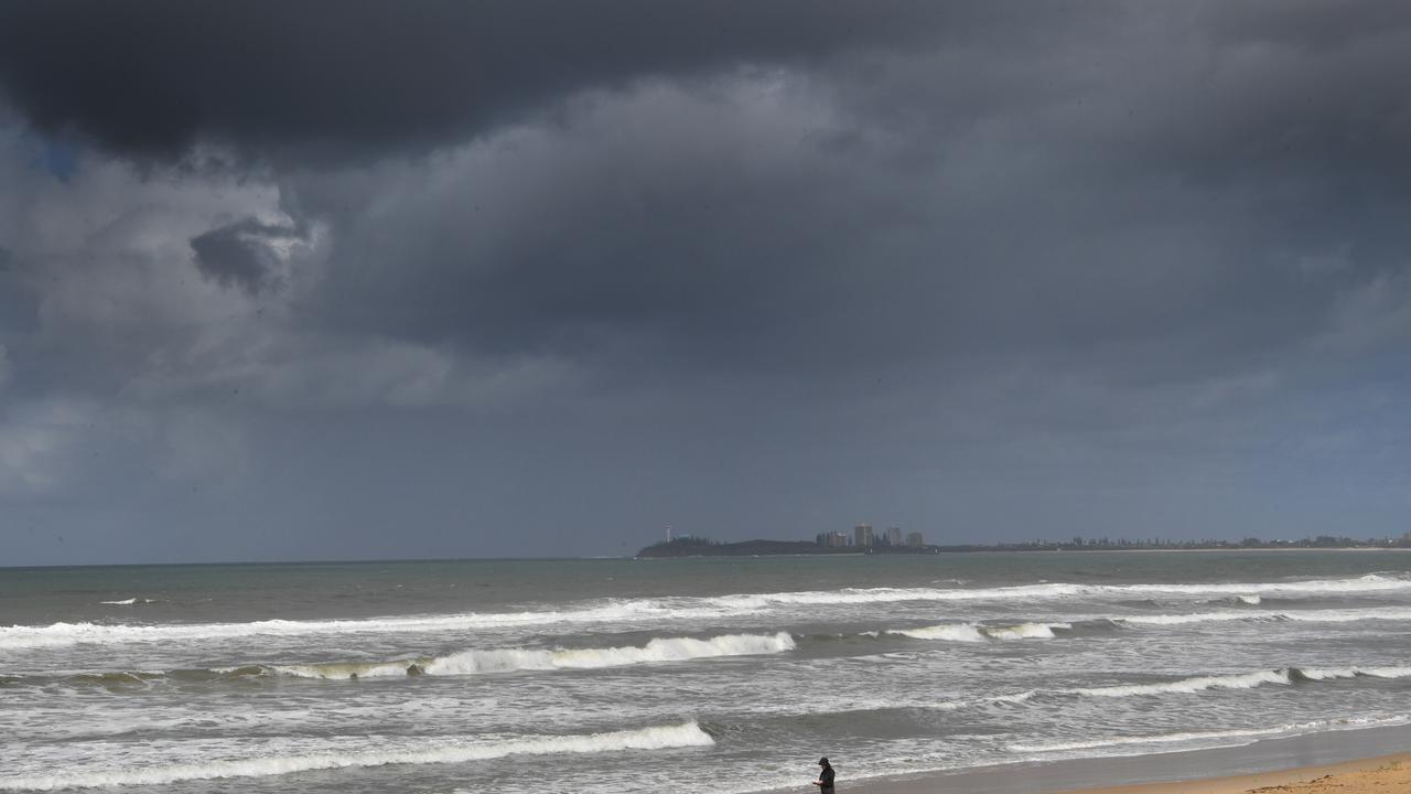 Dark clouds over Maroochydore Beach. Photo: John McCutcheon / Sunshine Coast Daily