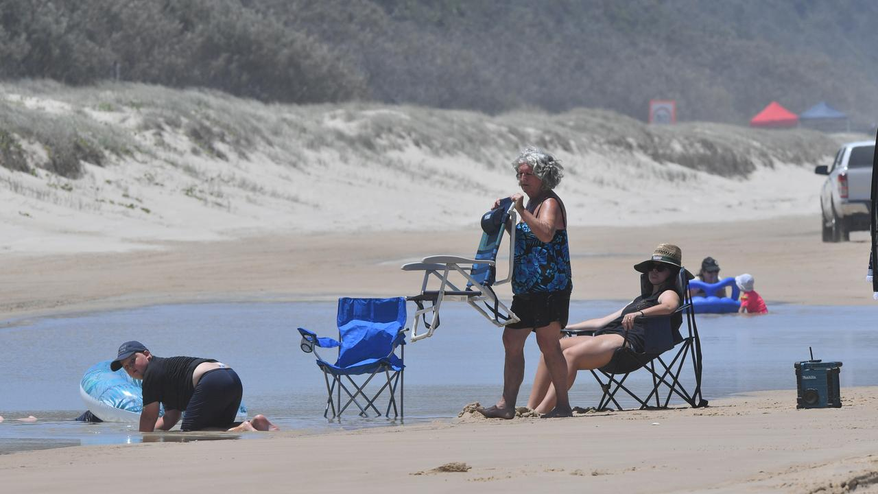 "The slashing of maximum camper numbers at Teewah Beach has been called a ""kneejerk"" reaction by a Rainbow Beach tourism operator, who says the beach's length means social isolation should not be an issue. Photo: John McCutcheon / Sunshine Coast Daily"