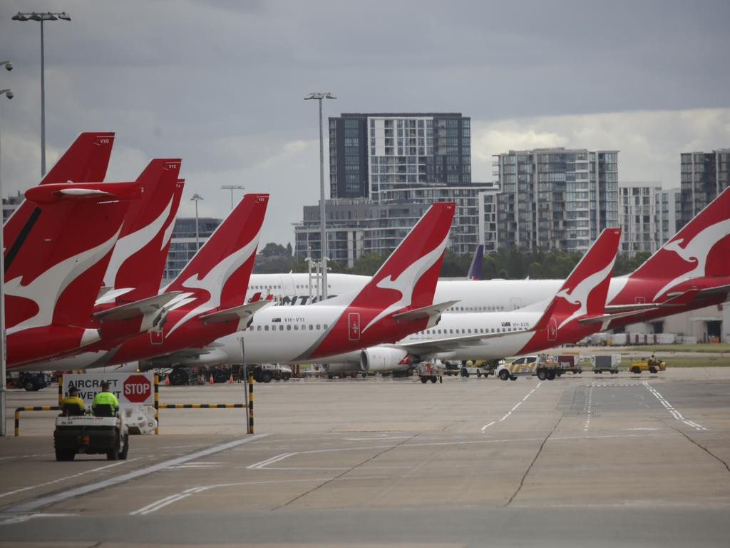Qantas has stood down 20,000 workers. Picture: Christian Gilles
