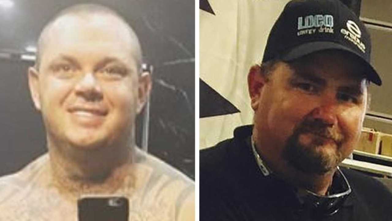Police have made a major breakthrough in the alleged double killing of Shane Ross and Cameron Martin, charging two alleged members of the Lone Wolf bikie gang.