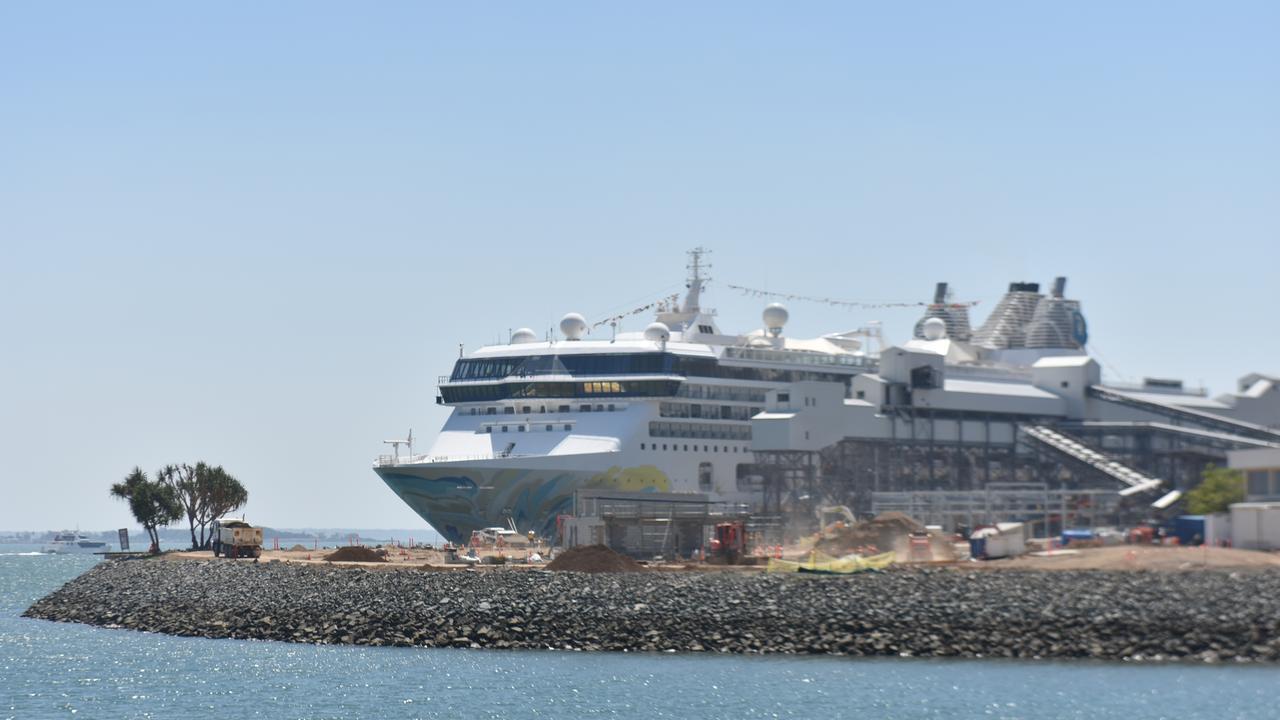 Cruise ship Explorer Dream docked in Gladstone on November 6, 2019.