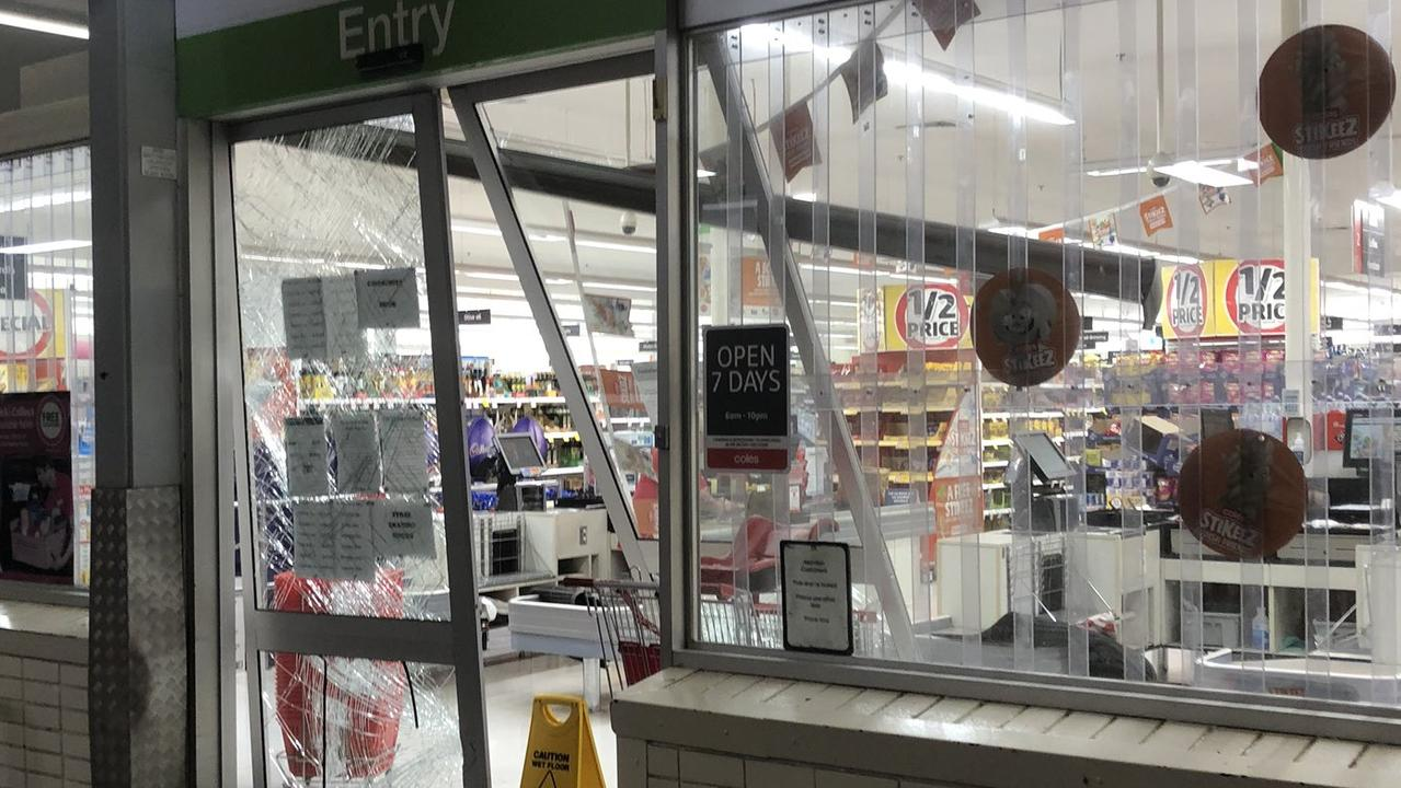 Coles in Curtin ACT 'ram raided' but not COVID-19 related. Picture: Twitter