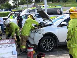 Car ploughs into Gympie shopfront