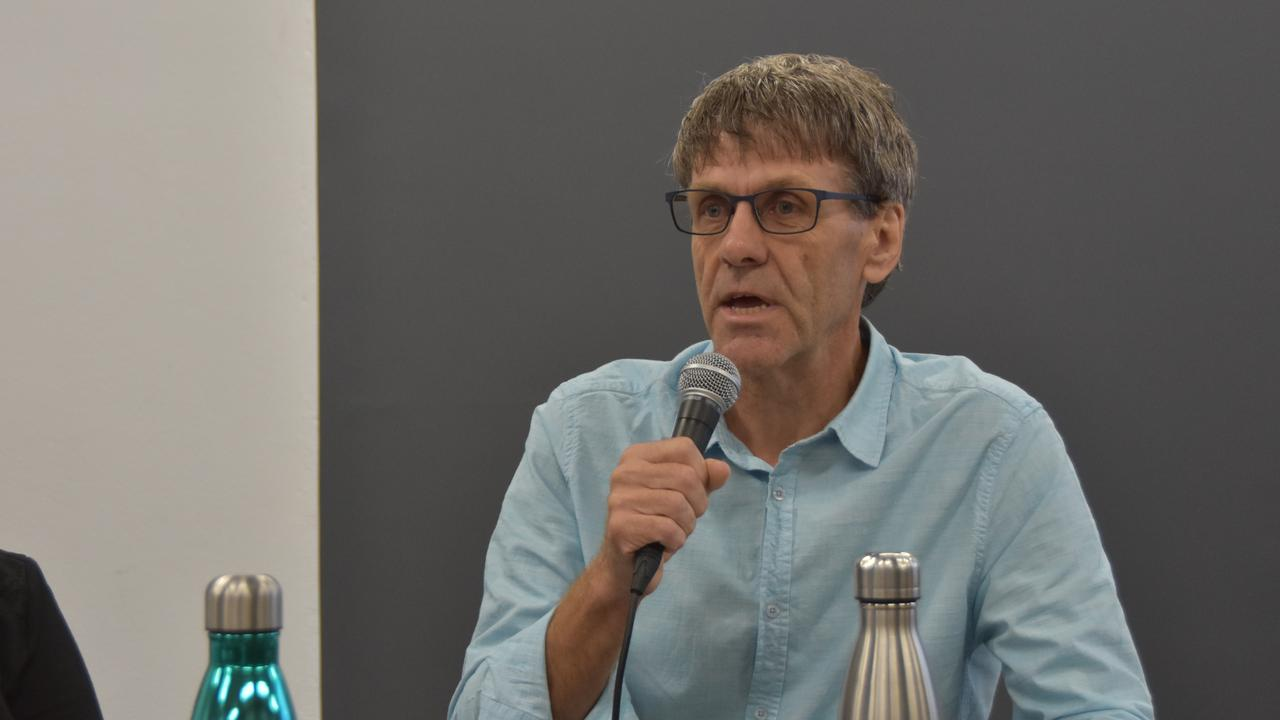 Division 10 candidate David Law speaks at a Sunshine Coast Daily election forum.