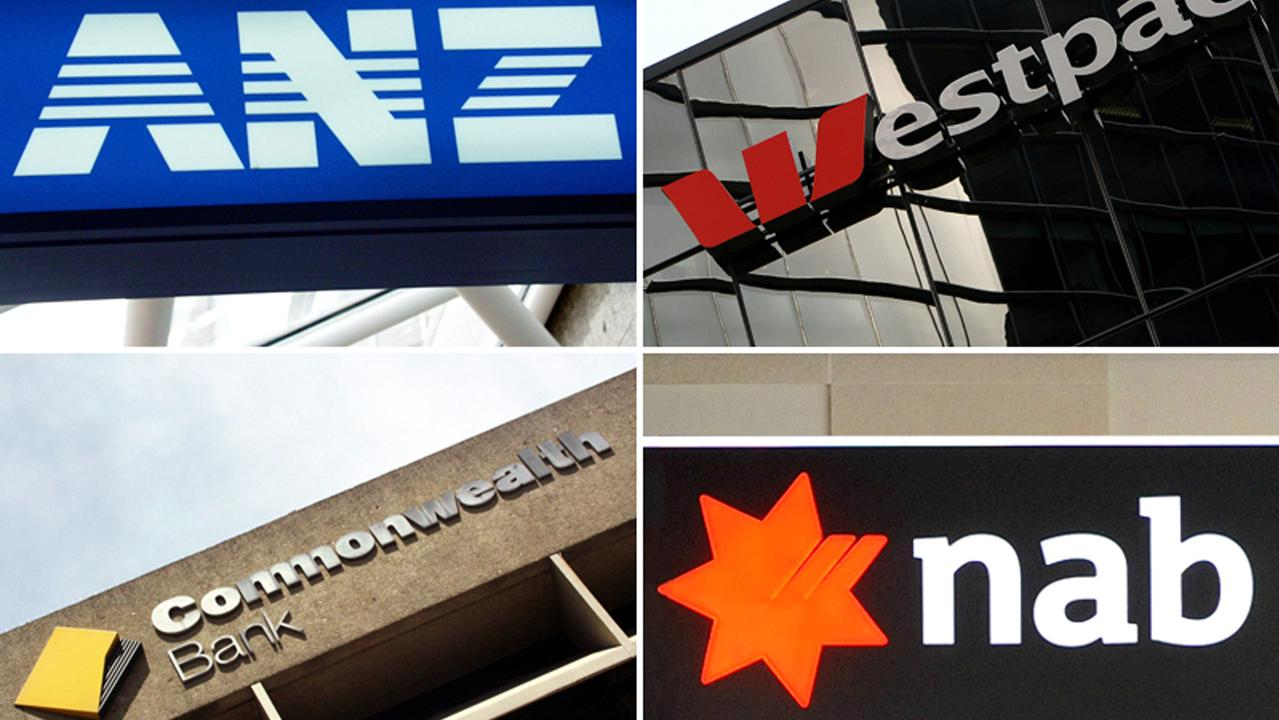 Composite image of Australia's 'big four' banks ANZ, Westpac, the Commonwealth Bank and the National Australia Bank. (AAP Image)