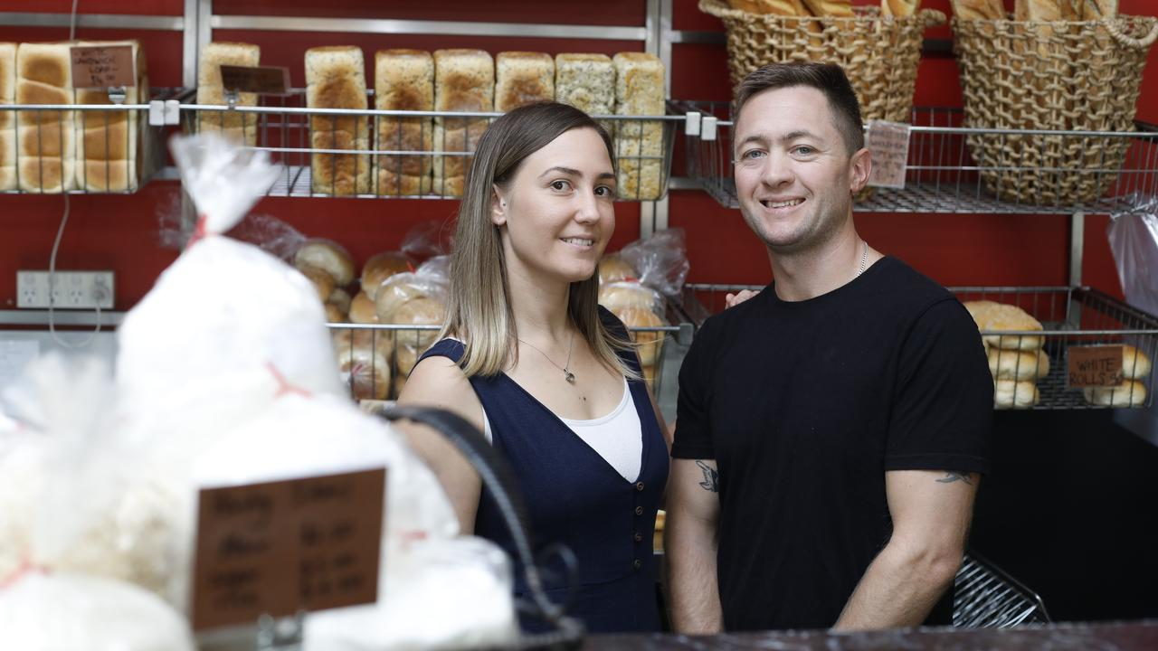 Jess and Tyson Phillips at Choux Choux Patisserie in Bangalow.