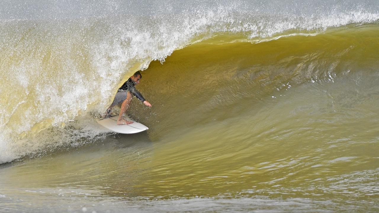 Wave of the day at Alexandra Headland on Wednesday. Photo: John McCutcheon / Sunshine Coast Daily