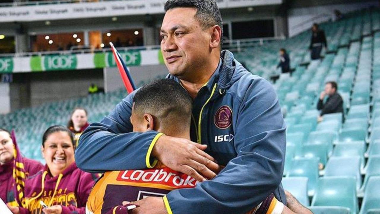 Jamayne Isaako with his dad Taai
