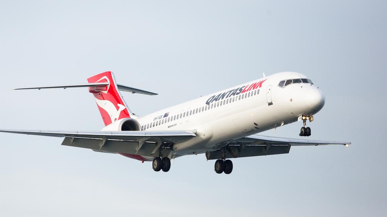 Qantaslink plane. Picture: ANDREAS SMETANA