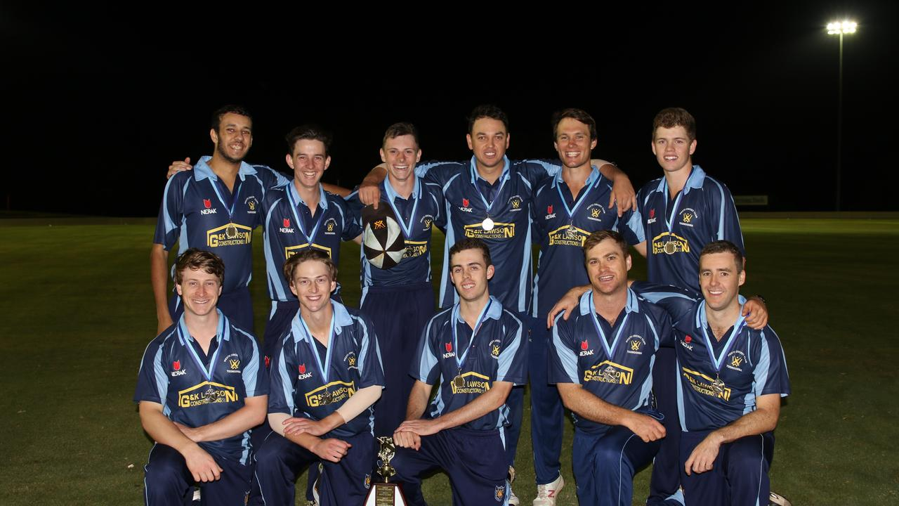 CHAMPIONS: Western Districts took out the Toowoomba Cricket A-grade Twenty20 title. Photo: Allyson Gardener