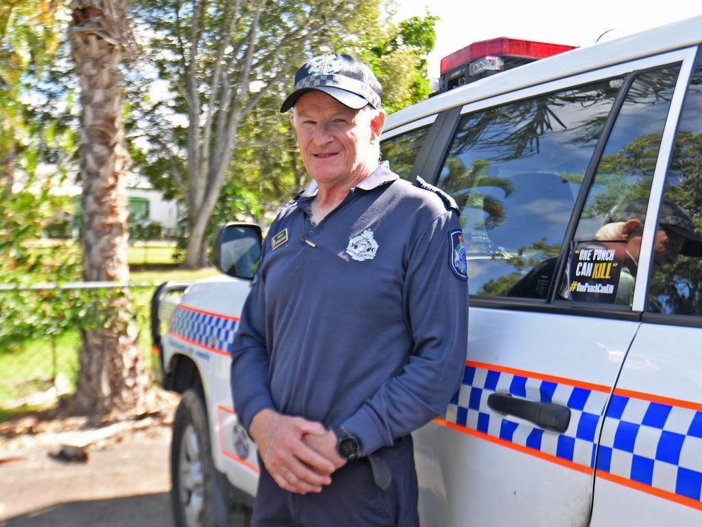 Tin Can Bay Sergeant Darren Grieve retires. Picture: Shane Zahner
