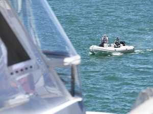 Border Force board luxury yacht in Darwin Harbour