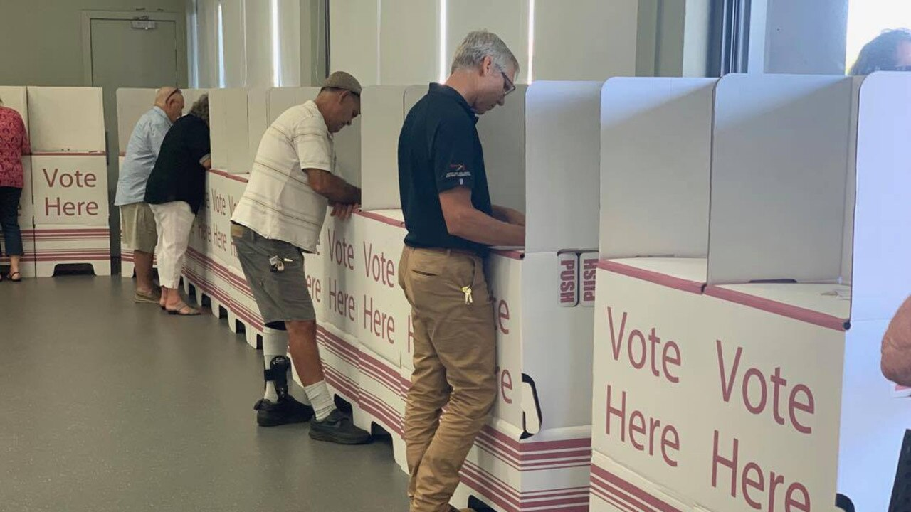 Mackay residents are voting early, ahead of the March 28 election.