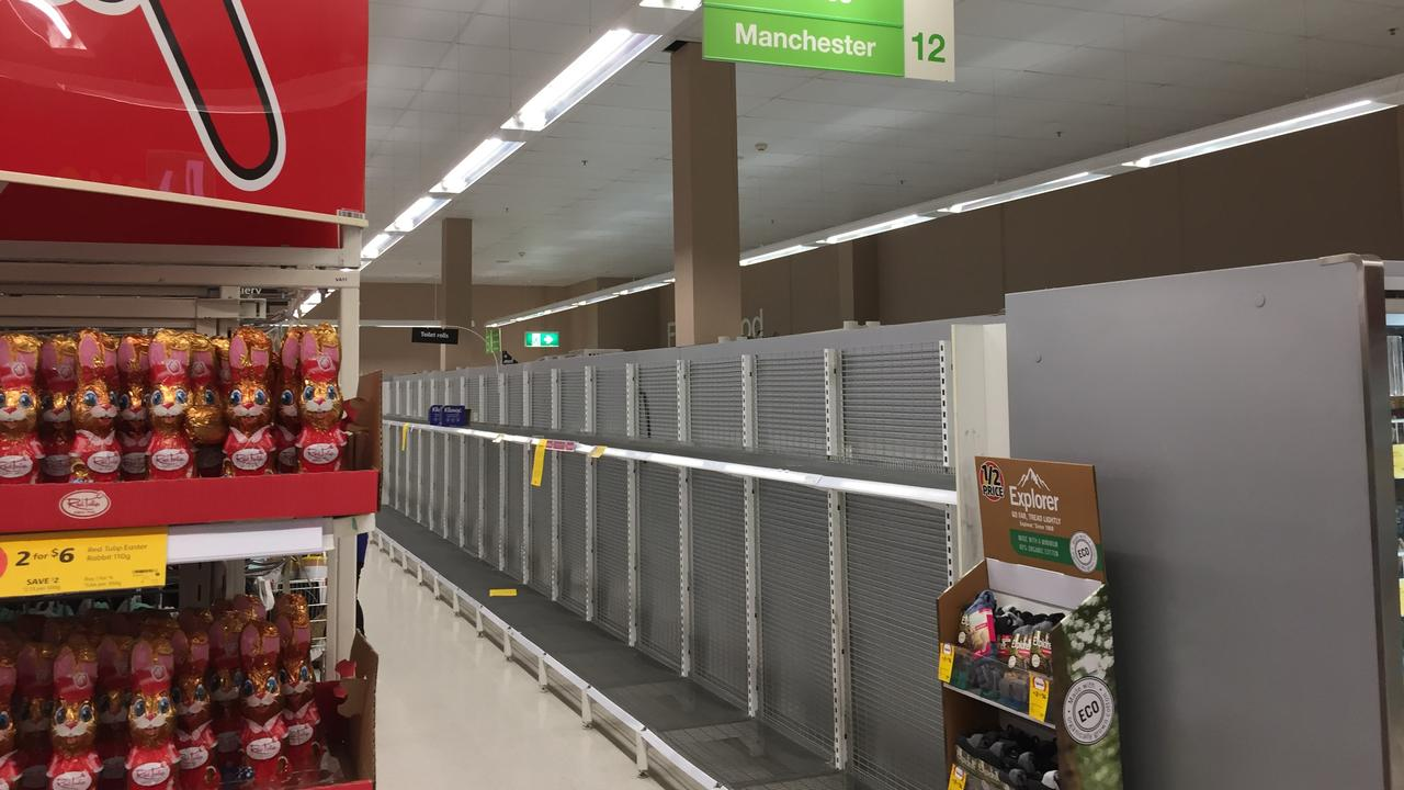 Coles in Stockland Rockhampton Shopping Centre were out of toilet paper and paper towels by 11am.