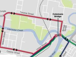 Changed traffic conditions in Lismore CBD