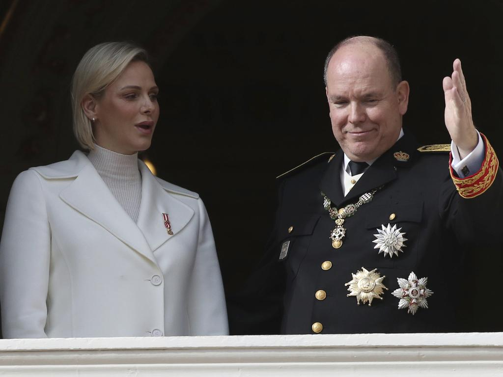 Prince Albert with his wife, Charlene. Picture: AP
