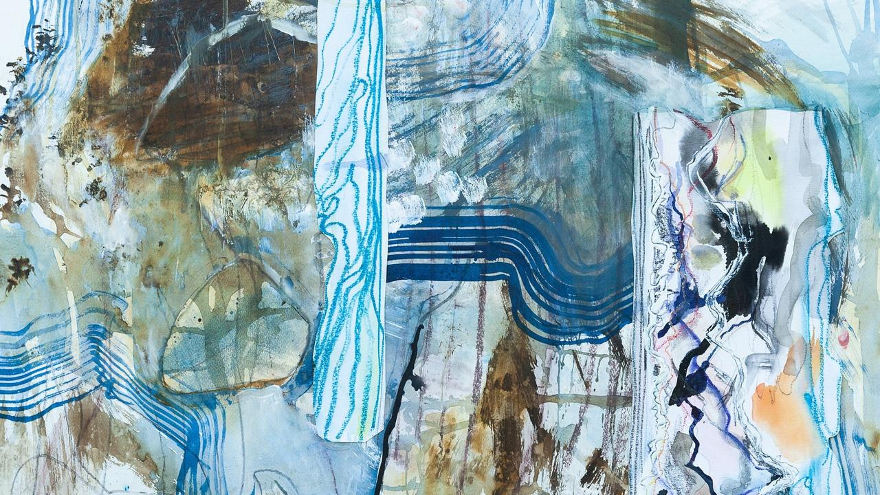 Tidal Waters, mixed media on paper – 58 x 78cm, by Rosie Lloyd-Giblett.