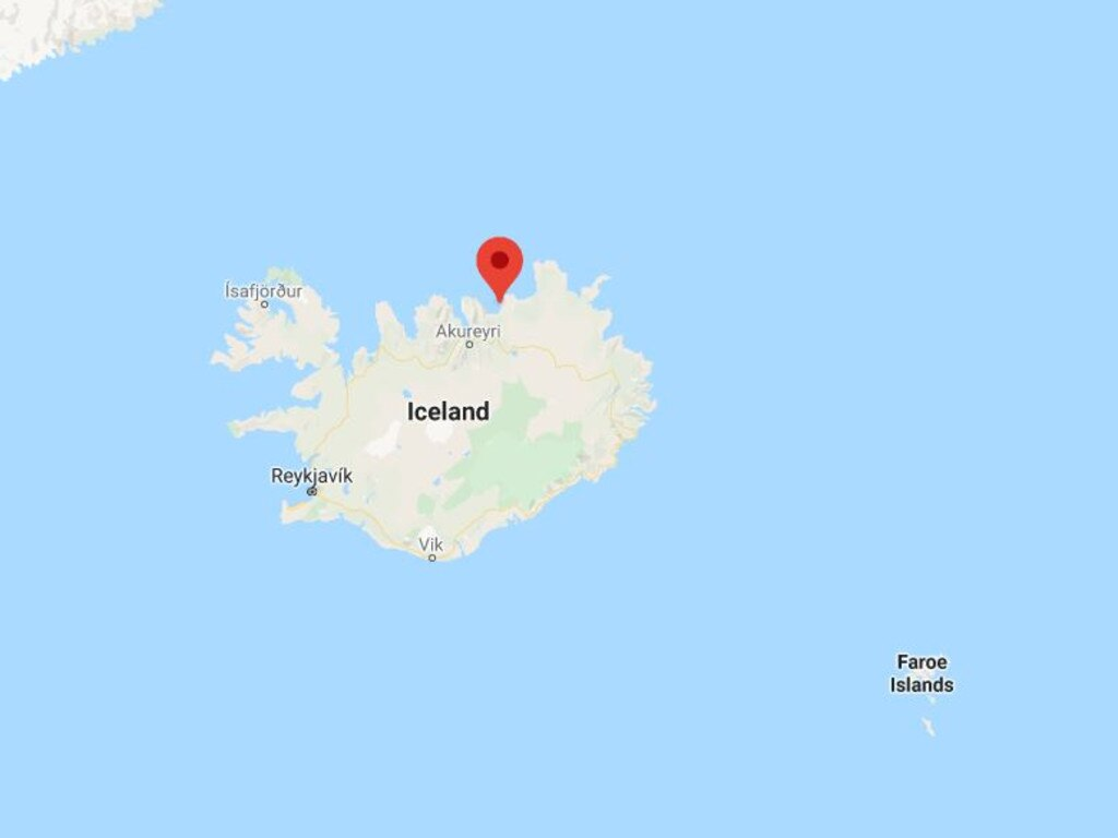 Húsavík, where the Australian man, 36, died is a remote northern port in Iceland.