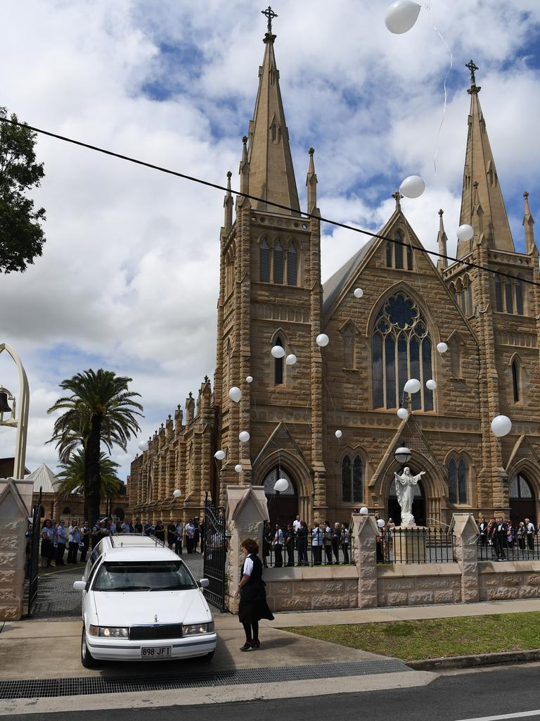 Funeral service for respected nurse Audrey Burke, who died recently after a long battle with cancer.