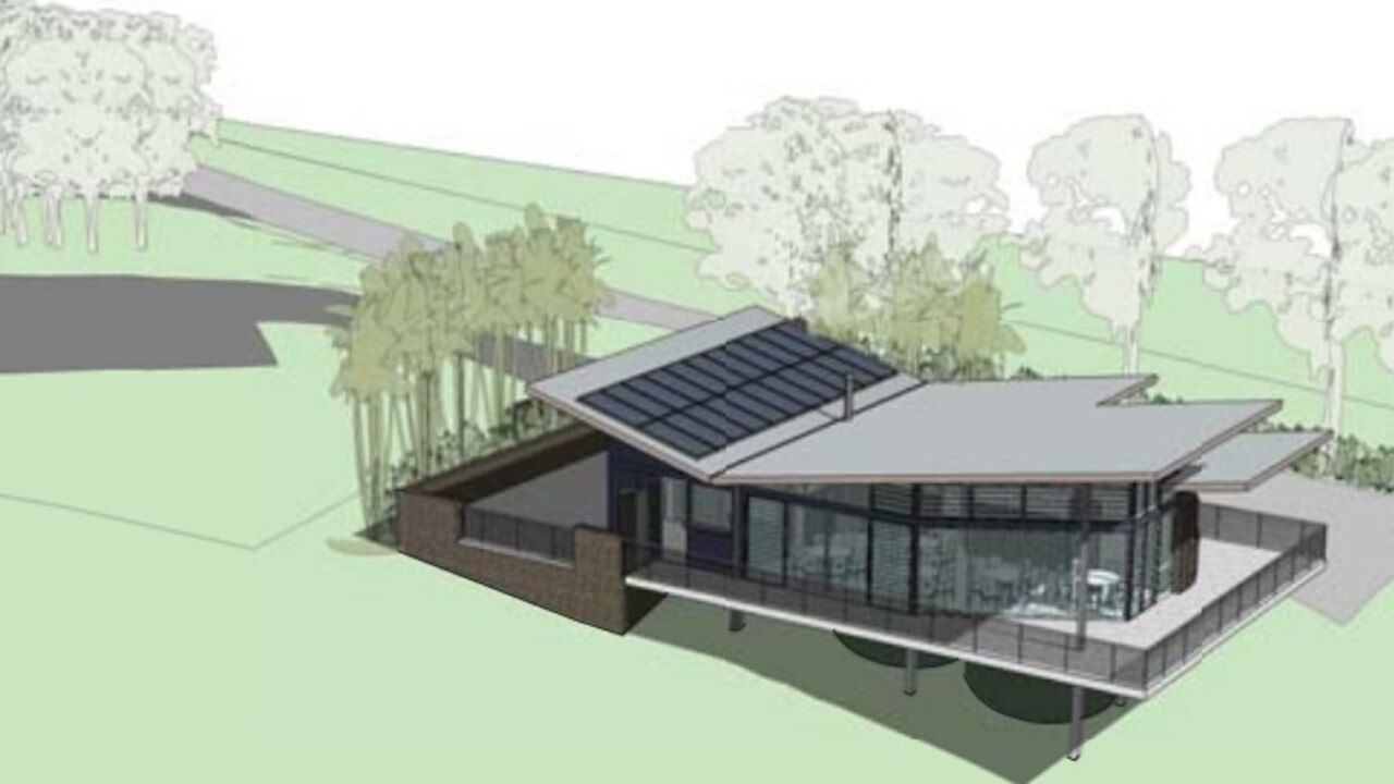An artist's impression of a restaurant proposed for 784 Coolamon Scenic Drive at Coorabell.