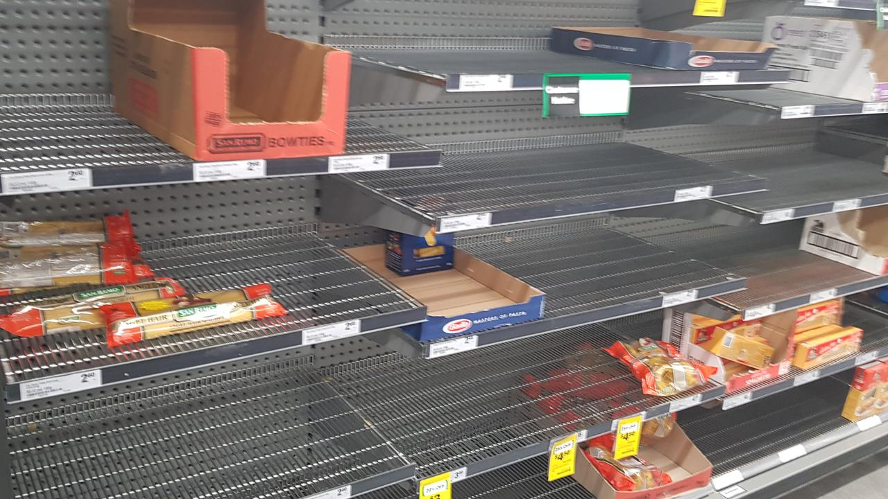 Australia is starting to run low on pasta and rice as panic buying hits already drought-stricken supply.
