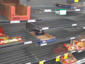 Panic buyers decimate rice and pasta supplies