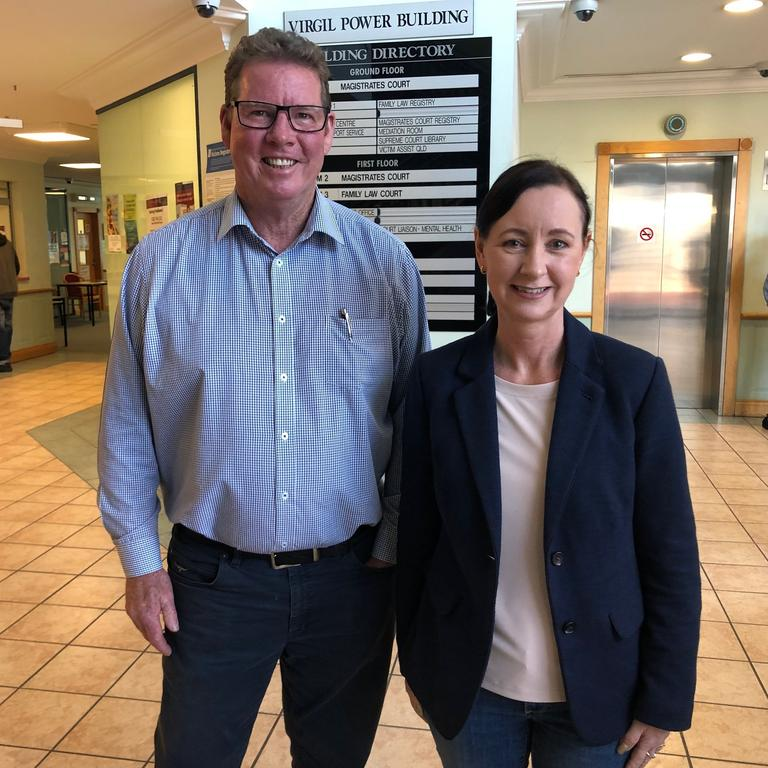 Rockhampton MP O'Rourke and Minister for Justice Yvette D'Ath.