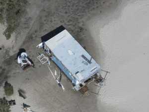 BEGONE BOAT: Derelict houseboat removed from Burrum River