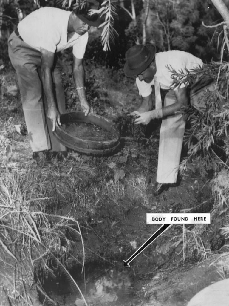 The scene where murder victim Mima McKim-Hill's body was found in 1967.