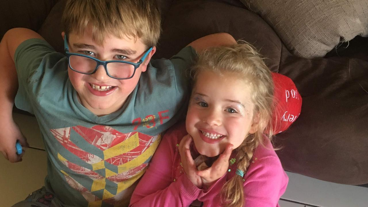 The couple's children Caleb and Lena are keen to come back home. Picture: Julie Woolley