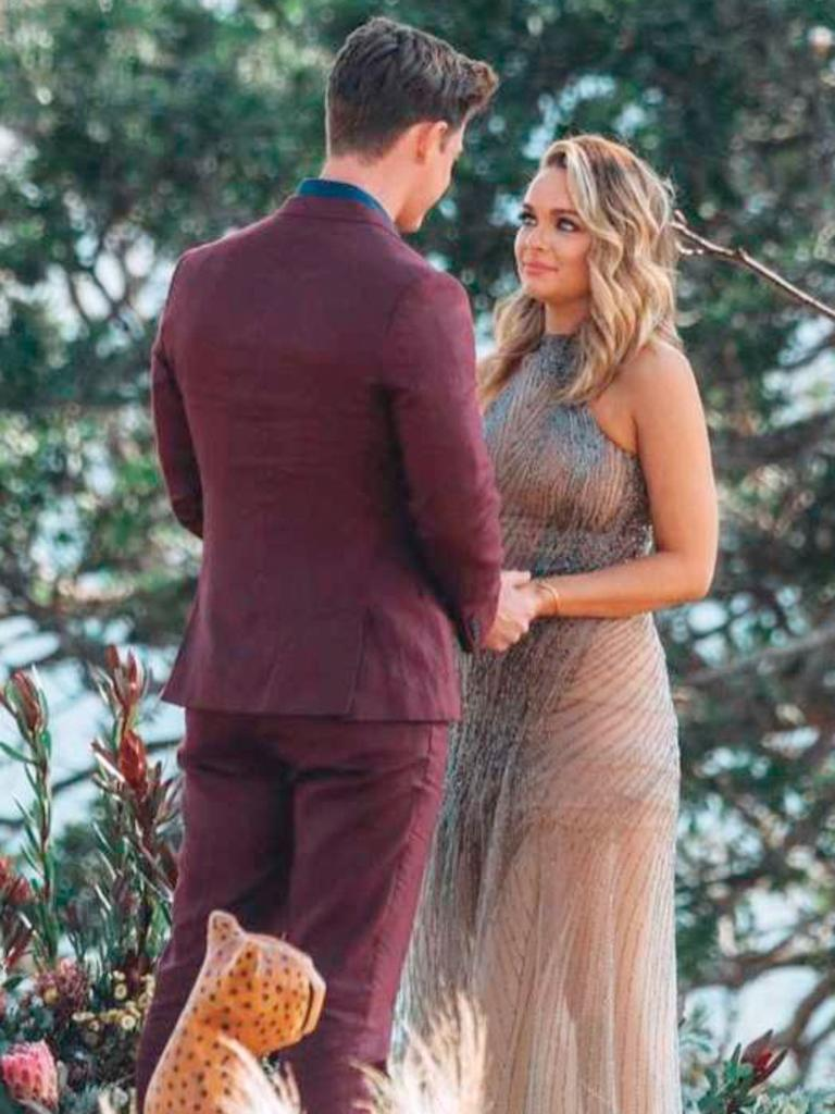 Chatfield with Matt Agnew in The Bachelor Finale. (Picture: Network 10)