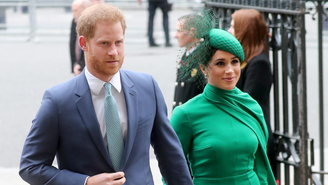 Prince Harry and Meghan Markle are in lockdown in Canada. Picture: Getty Images.