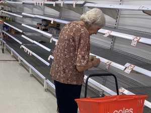 Woman in 'tears' over panic buying