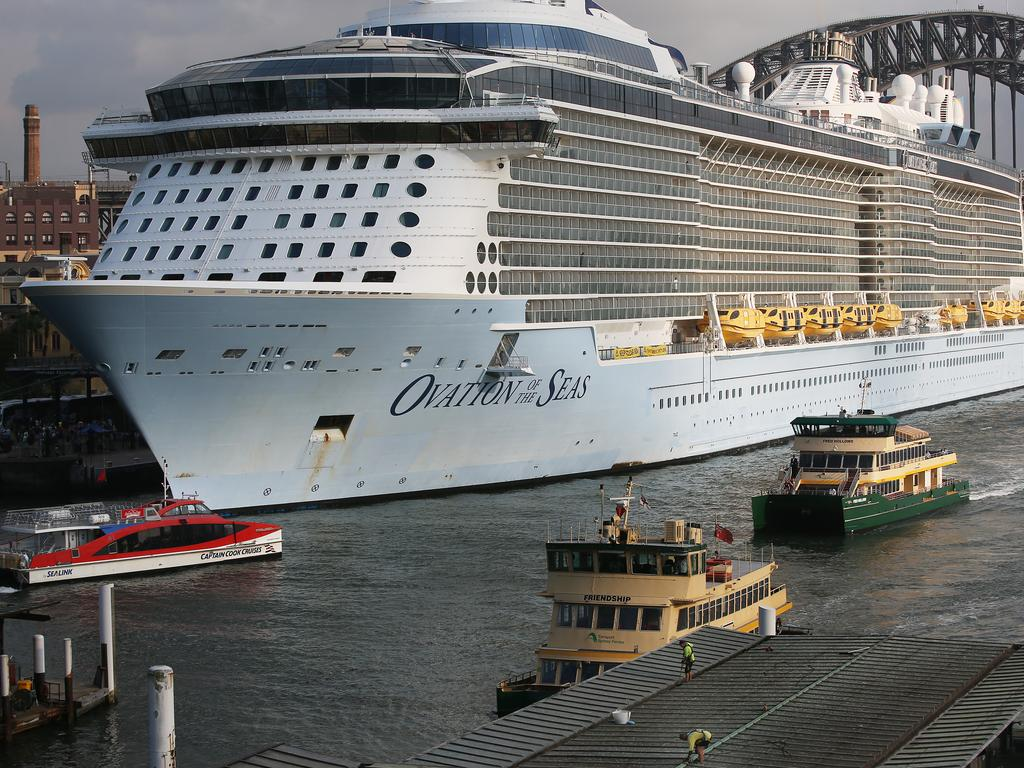Royal Carribbean cruise ship 'Ovation of the Seas' in December 2019. Picture: Lisa Maree Williams/Getty Images