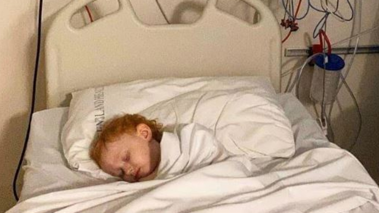 Halo Billings, 3, has not been tested for coronavirus despite being diagnosed with an unknown virus causing respiratory distress. Picture: Supplied.