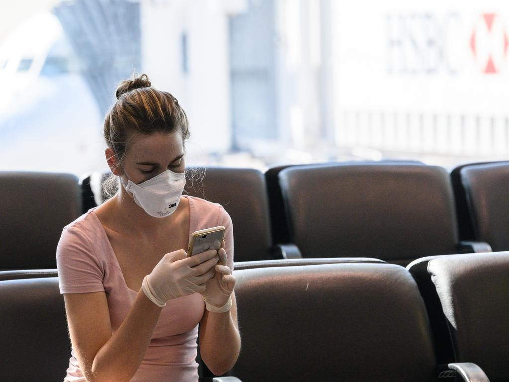 Sorry, but masks don't always stop the spread of coronavirus. Picture: AAP Image/James Gourley