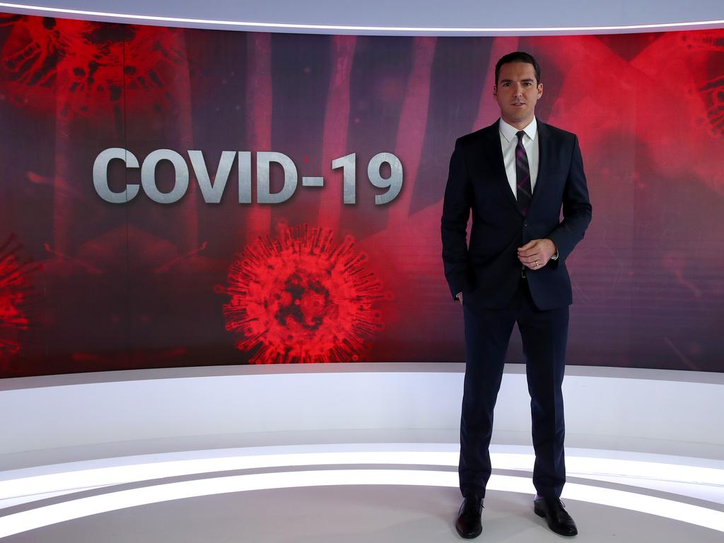 Peter Stefanovic is among the team for Sky News COVID-19. Picture: Toby Zerna