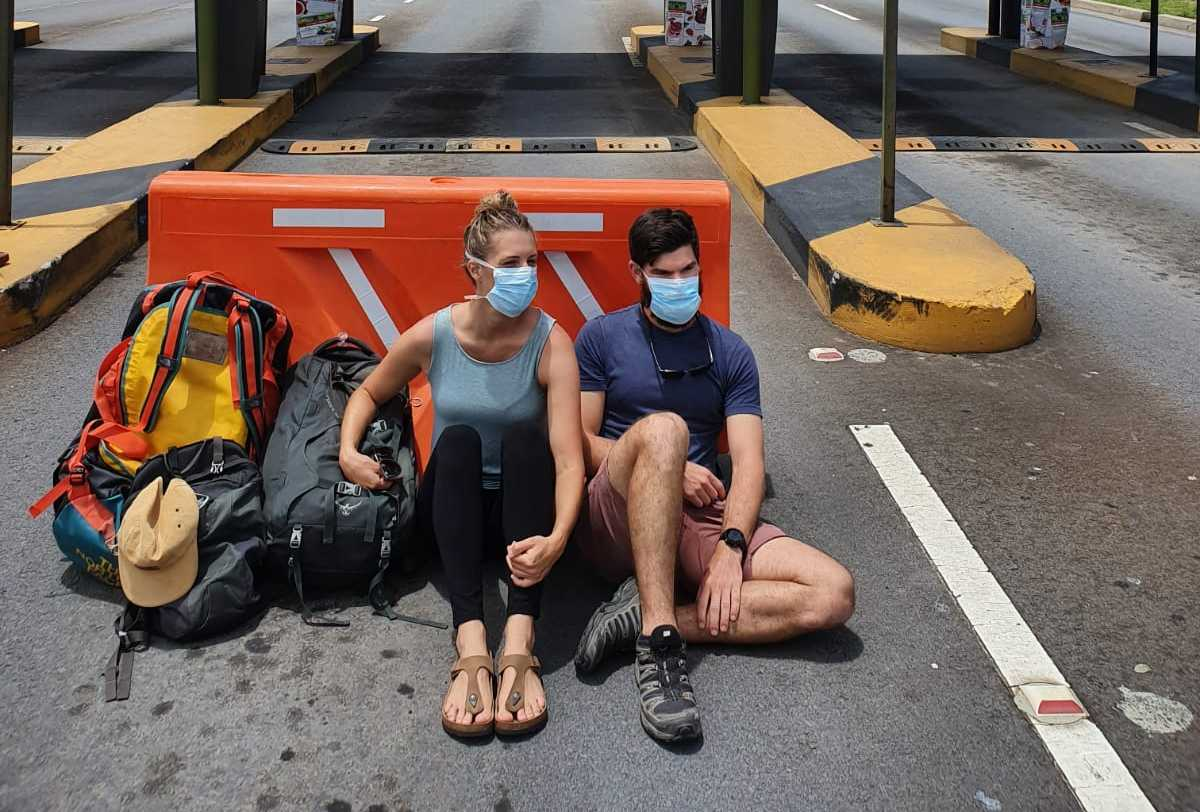 Sunshine Coast doctors Adam Douglas Meagan Thomson are stranded in Ecuador.
