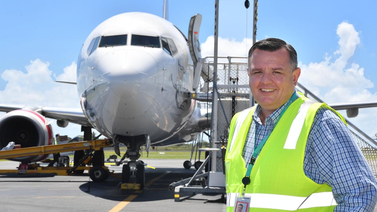 Mackay Airport general manager Garry Porter said staff were not advised to self isolate by the Department of Health. Picture: Tony Martin