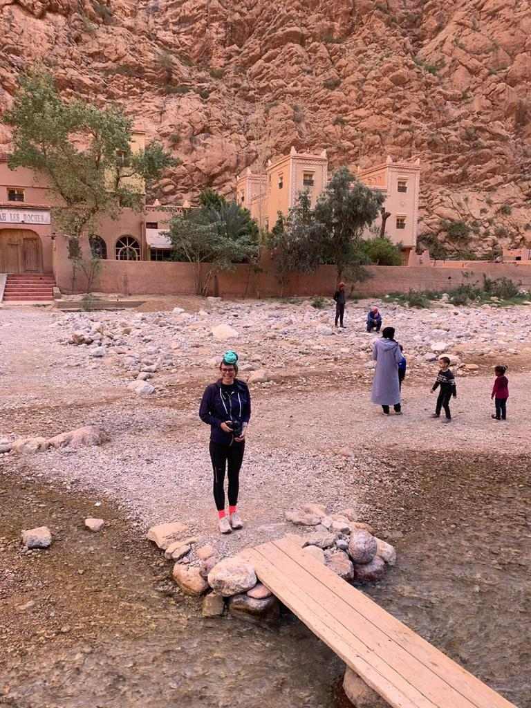 Australian living in Morocco, Jane Cornish visiting Todra Gorge last year.