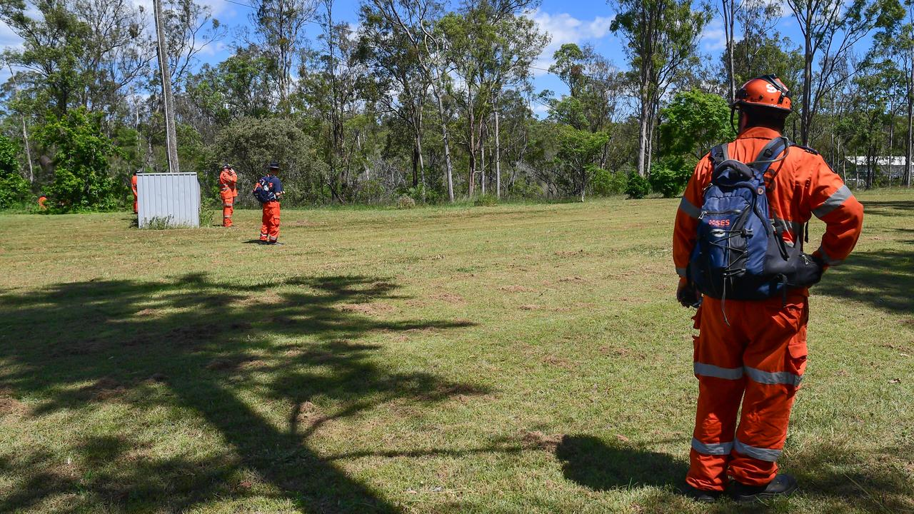 SES volunteers were part of the group that searched for a missing man at Bullyard on Saturday.