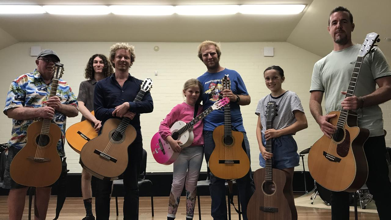 LEARNING EXPERIENCE: Swedish guitarist Johannes Moller held a special workshop before his concert at the Clarence Valley Conservatorium on Saturday, March 21.
