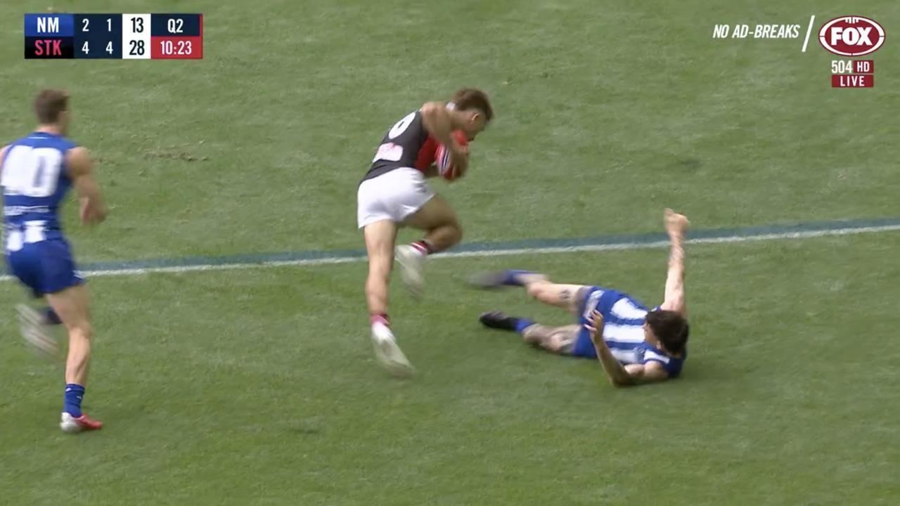 The moment Jasper Pittard kicked opponent Dan Butler