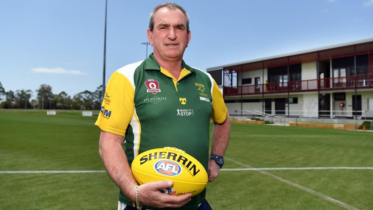 Maroochydore Roos coach Andrew Cadzow. Photo Patrick Woods / Sunshine Coast Daily.