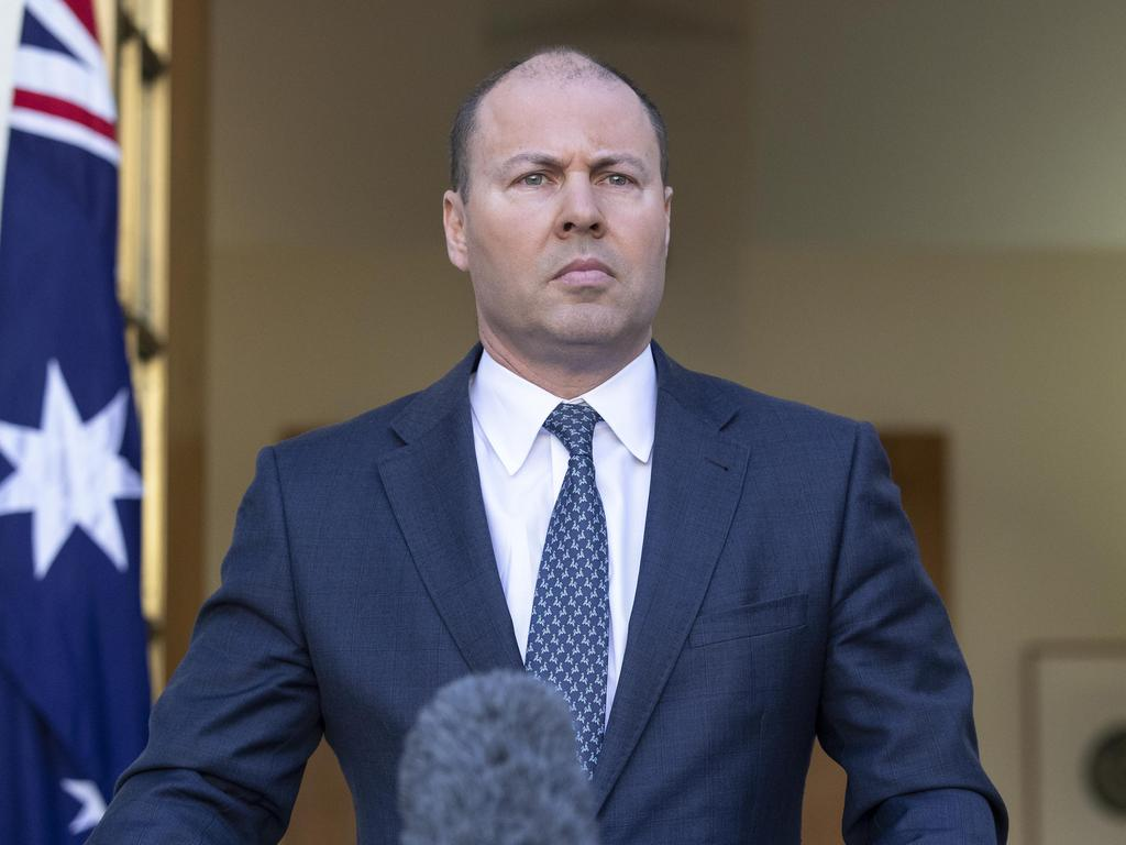 Australians in financial stress will also be able to access more of their money in superannuation, says Treasurer Josh Frydenberg. Picture: Gary Ramage