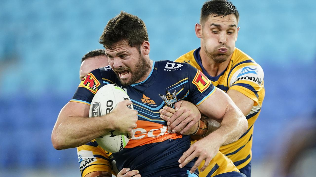 The Titans clashed with the Eels on Sunday night, but will the show go on? Picture: Dave Hunt