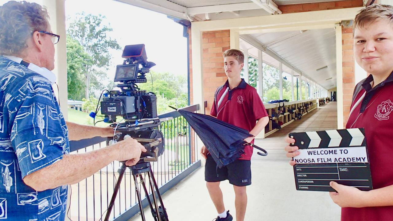 AND CUT: Students from Kilcoy State High School learned the ins and outs of making a film.