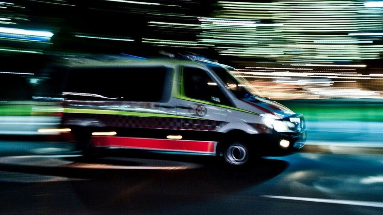 A man was taken to hospital after crashing into a power pole at Yandina.